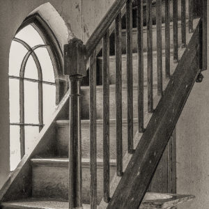 Calke Abbey church stairs by Malcolm Sales