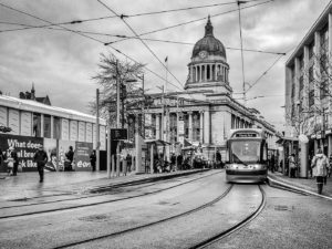 Market Square Tram by Malcolm Sales