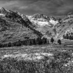 Saas-Fee 1 Meadow and Mountain by Eric Butler